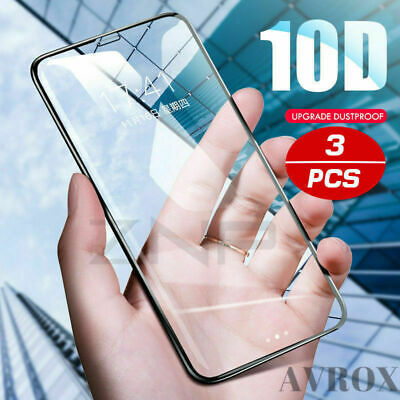 For Apple iPhone XS Max 3D Curved Full Coverage Tempered Glass Screen Protector
