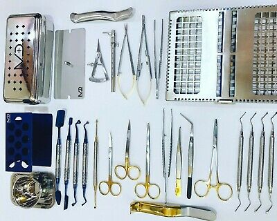 Dental PRF Box Kit Bone Surgery Instruments Implant Surgical 28 pcs Set CE