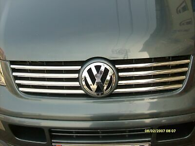 VOLKSWAGEN T5 TRANSPORTER  2003-2010 Chrom Front Grill 8 pcs. S.Steel