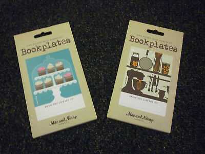 2 Packs of Self Adhesive Bookplates by Mac and Ninny Paper Co - NEW