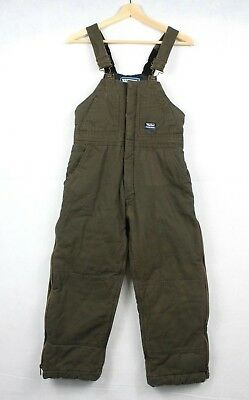53f6a8cff56fa Walls Tough Wear Youth Large 12 14 Insulated Bib Overalls Brown Kidz Grow  System