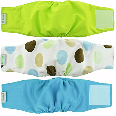 Washable Male Dog Diapers, Premium Reusable Belly Bands (XS) Pack of 3