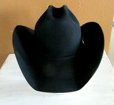 91360811288e5 Beautiful Black Resistol George Strait Collection Western Hat - 7 Long Oval  - NR