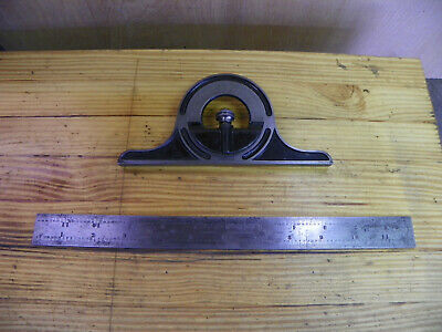 Vintage Union Protractor head and rule