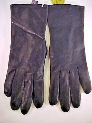 Thinsulate Womens Leather Gloves Size M Fully Lined Black Thermal Insulation