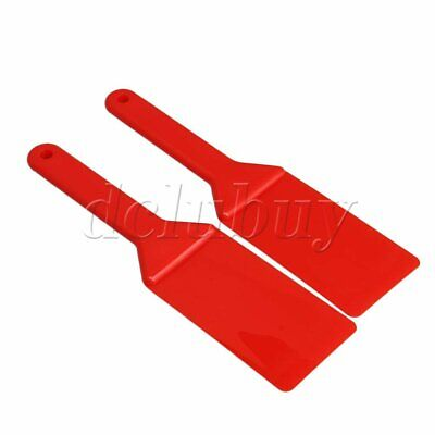 2pcs Red 10.55x2.67 inches Ink Scrapers Printing Spatulas Accessories