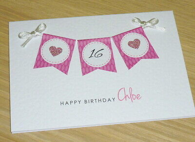 Personalised Birthday cards - 16th 18th 21st 30th 40th 50th any age -handmade