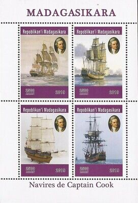Madagascar - 2019 Captain Cook - 4 Stamp Sheet - 13D-237