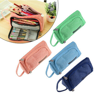 Large Capacity Pencil Pen Case Bag Makeup Pouch Stationery Box Student