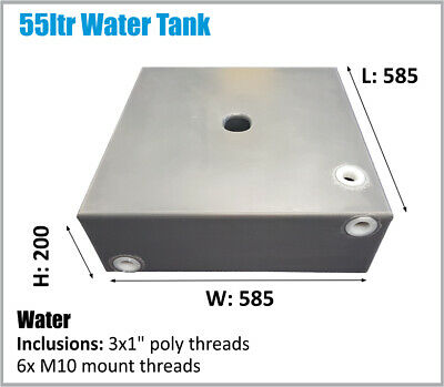 Poly Rv 4X4 Under Ute Tray Water Tank 55Ltr Caravan 4Wd Camper Ask Freight Price