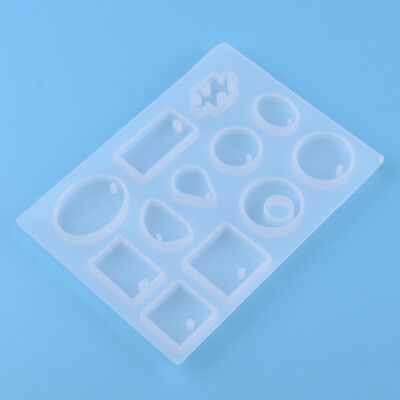 12 Making Pendant Jewelry Silicone Mould Mold Round Square Mold Resin Craft DIY