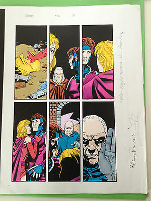 Gambit #12 Page 37 Original Color Guide Marvel Production Art X-Men Sign Ramos