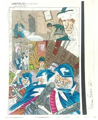 Gambit #12 Page 26 Original Color Guide Marvel Production Art X-Men Sign Ramos