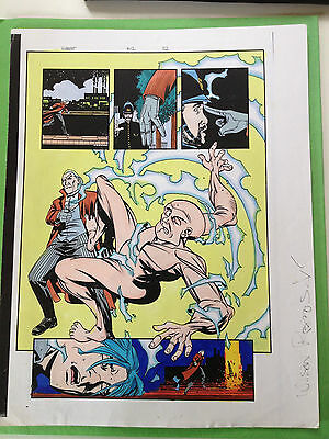 Gambit #12 Page 32 Original Color Guide Marvel Production Art X-Men Sign Ramos