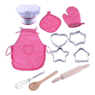 11pcs Kids Portable Kitchen Cooking Cooker Pretend Role Play Toys Set Gifts