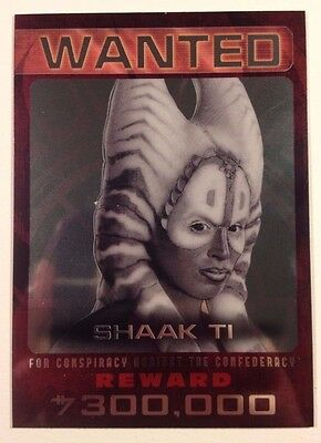2015 Topps Star Wars Chrome Perspectives Jedi vs Sith WANTED #7 Shaak Ti