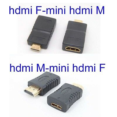 Gold Plated HDMI-Mini HDMI male to Female Connector HD TV Converter Adaptor