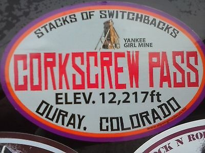 CORKSCREW PASS, Ouray, Colorado CO vinyl sticker decal,jeeping,4X4,4WD,hikig