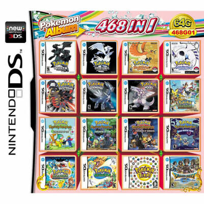 468 In 1 Video Game Cartridge Console Card For Nintendo NDS NDSL 2DS 3DS NDSI US