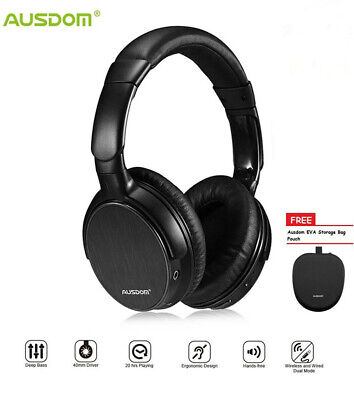 Ausdom M06 3D Surround Over Ear Headphones Wired Wireless Bluetooth Earphones