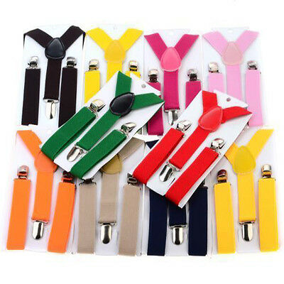 Children Kids Boy Girls 1PCS Toddler Clip-on Suspenders Elastic Adjustable Brace