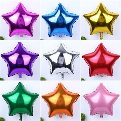 10'' 10Pcs Five-Pointed Star Nitrogen Foil Balloons Holiday & Party Supply GR
