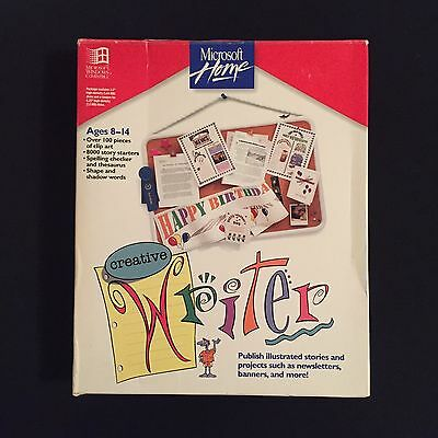 Microsoft Home Creative Writer Vintage Desktop Publishing Software Windows 1993