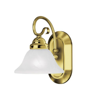 Livex Lighting 6101-02 Coronado 1-Light Bath Light, Polished Brass