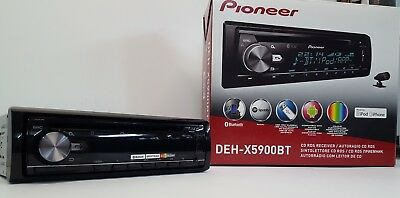 Pioneer DEH-X5900BT Car CD Tuner with Bluetooth, USB and Spotify EX-DEMO#