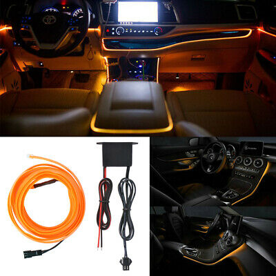 12V 2m LED Cold Light Car SUV Interior Strip Lamp Mood Creater Decor Neon LD1808