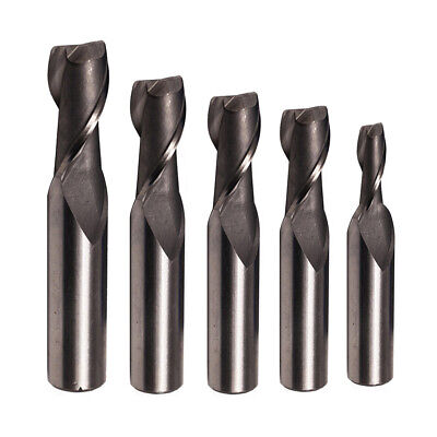 Solid HSS End Mill 2Flute Square Nose Endmill Router Bit for Aluminum Flat End