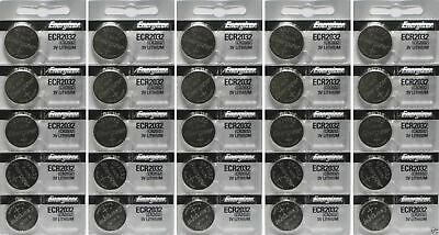 25 New Genuine Energizer ECR2032 CR2032 Lithium 3v Batteries U.S SELLER
