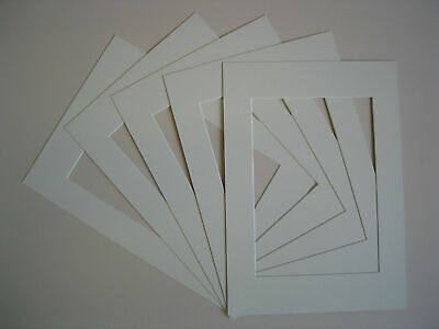 Pack Of 5 Square Picture Photo Mounts Frames Various Colours White Ivory Black