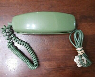 Trimline Rotary Dial Telephone Avocado Green Bell System Western Electric Desk