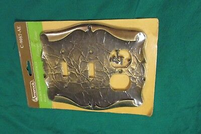 NOS Vintage Amerock Carriage House combination 2 Switch 1 outlet wall Plate