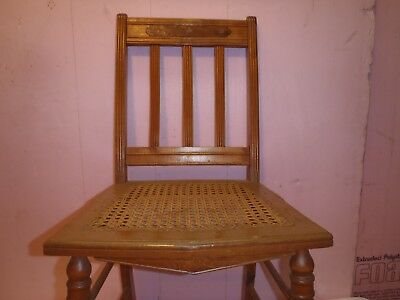 Rare Vintage Wooden Chair With Woven Wricker Set
