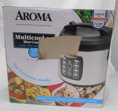 Aroma 4 Qt. 4-20 Cup Digital Multicooker Stainless Steel ARC-1030SB Q2 VV A1