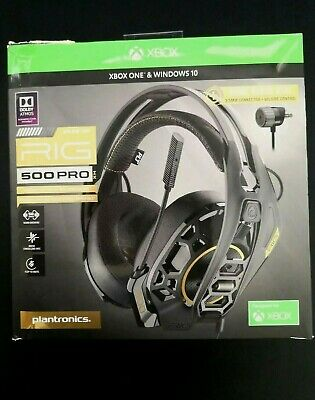 Plantronics RIG 500 PRO HX Gaming Headset for Xbox One Black Complete Retail Box