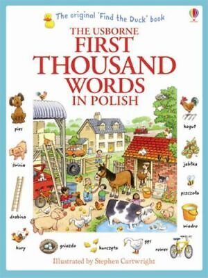 The Usborne First Thousand Words in Polish Book - Very Beginners Starters Basics