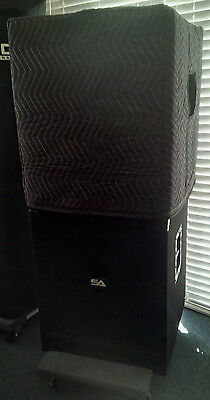 SEISMIC AUDIO TREMOR 18 Sub Padded Black Speaker COVERS (2) - Qty of 1 = 1 Pair!