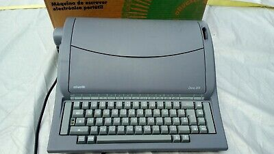 """Olivetti""Portable Electric Typewriter Model Dora 201Boxed"