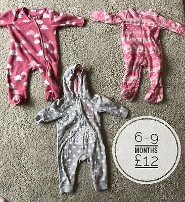 Baby Girls 6-9 Months Pram Suit Snuggle Suit Bundle Outerwear Baby & Toddler Clothing