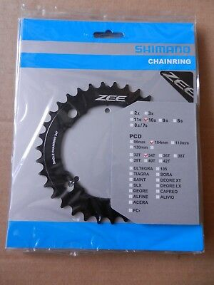 NEW Shimano ZEE FC-M640//M645 Replacement 1x Chainring Bike 104 BCD x 34T Black