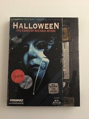 Halloween 6: The Curse of Michael Myers VHS SLIPCOVER BLU RAY W/ DIGITAL