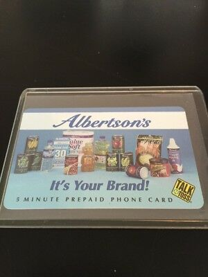 Albertson's Grocery 5 Minute Prepaid Phone Card Talk N Toss Collector's Card