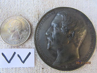 19Th Century French Medallion Medal Louis Napoleon Bonaparte Iii Dated 1851