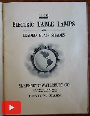 Arts & Crafts Table lamps Art Nouveau catalog 1910 Boston McKenney Waterbury
