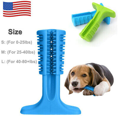 Dog Toothbrush Oralcare Pet Brushing Stick Teeth Cleaning Chew Toy For Dogs Pet