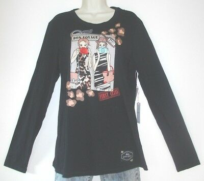 6cc782ef28b Nwt Koi Limited Edition Tourist Girl Stacy Women's Ls Black Scrub Top Size  Large