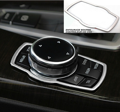 SURROUND SILVER BUTTON IDRIVE CIC CCC CONTROLLER for BMW F07 F10 F11 F18 5 serie